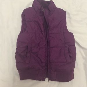 Other - Pre-owned purple puffer vest 12-18mo